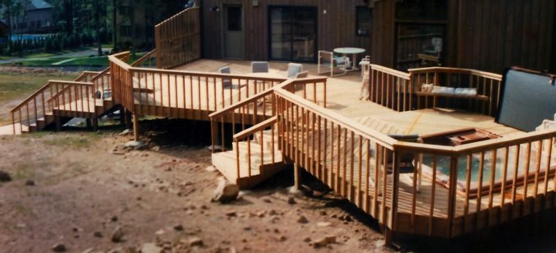 Multi-Level Sauna Deck